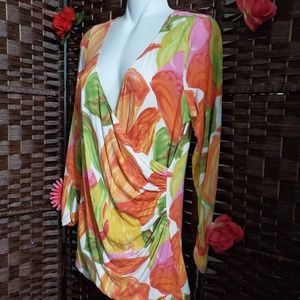 CABI BLOUSE FLORAL VERY NICE